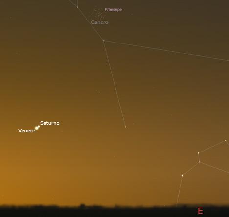 Congiunzione Venere Saturno