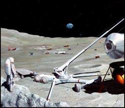 Base lunare nel cratere Shackleton
