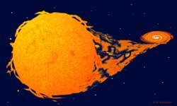 Un buco nero strappa materia ad una stella