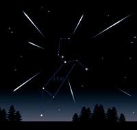 Le Leonidi - Immagine da www.astronomia.com