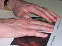 Una lettura con la tecnica braille