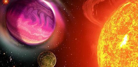 Rappresentazione artistica di un sistema extrasolare
