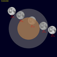 Fasi Eclisse parziale di Luna 16 agosto 2008