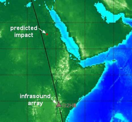 Infrasound map