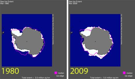 Mar glaciale antartico più 4,7% dal 1980