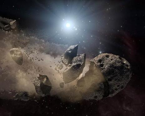 Intorno ad una piccola e ultramassiccia Nana Bianca vi è abbastanza sovente un anello di asteroidi …