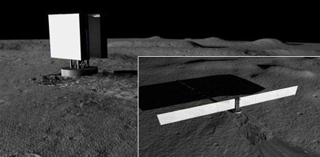 Impianto installato nella regolite lunare