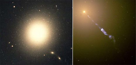 Due immagini della galassia M87