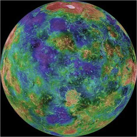 Una bellissima mappa di Venere ottenuta attraverso osservazioni radar