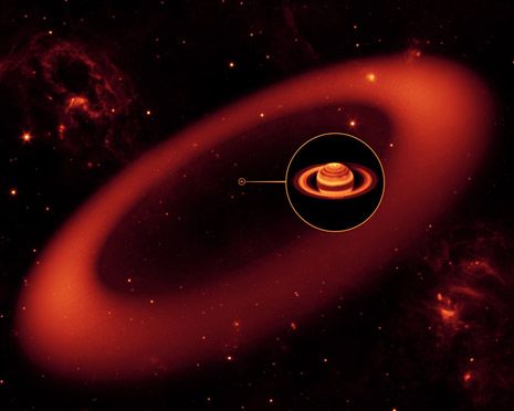 rappresentazione artistica dell'anello scoperto