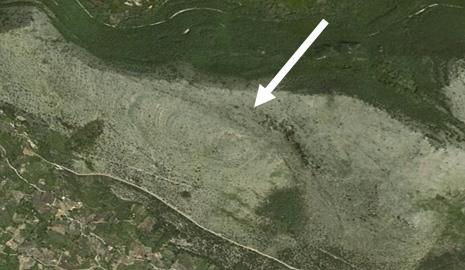 Foto satellitare del cratere da impatto