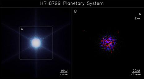 La scoperta dei tre pianeti attorno alla stella HR 8799