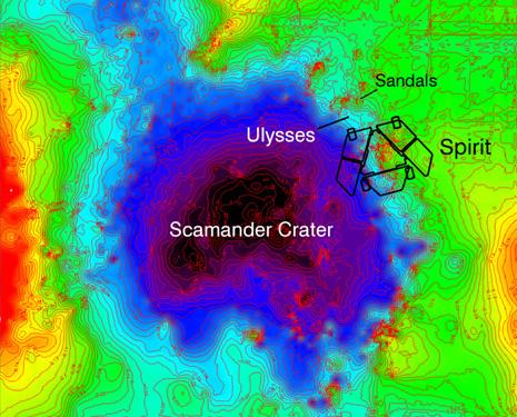 """La depressione chiamata """"Scamander Crater"""""""