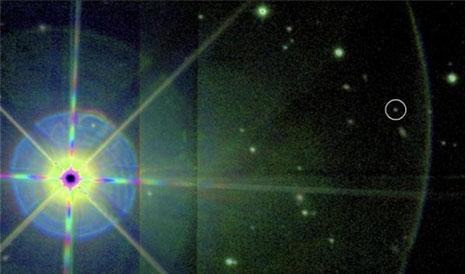 Eta Cancri a sinistra e la sua piccolo e fredda compagna a destra