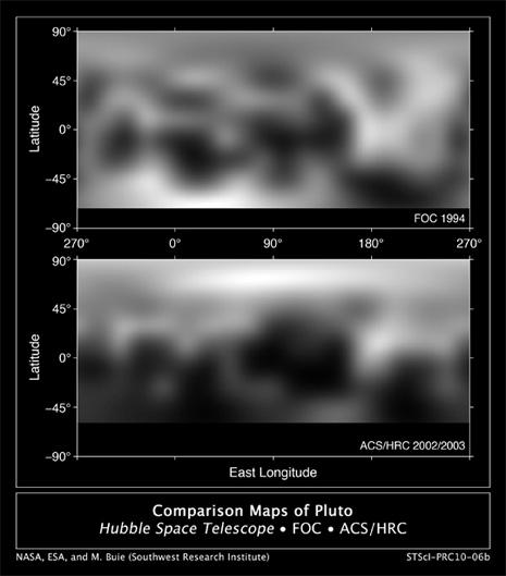Ripresa dall'alto della superficie di Plutone
