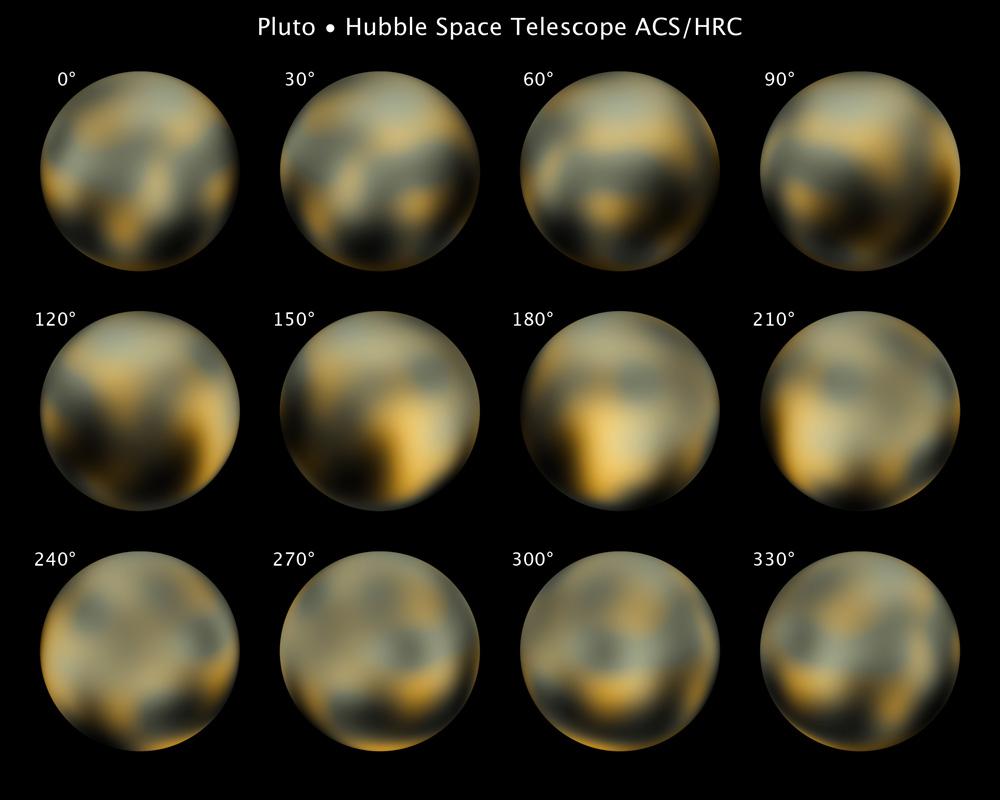 Истинный цвет Плутона