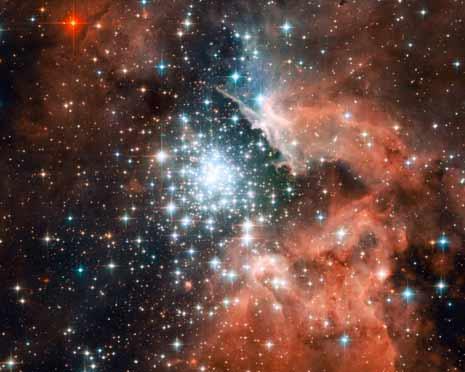 Un'immagine ben più dettagliata della fantastica fabbrica di stelle al centro di NGC 3603