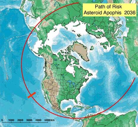 Rischio impatto per l'asteroide Apophis