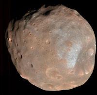 Il satellite marziano Phobos ripreso dalla sonda Hirise