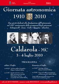 3 - 4 luglio: giornata astronomica a Caldarola (MC)