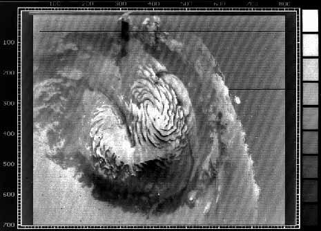 un'immagine TV del 1972 della calotta polare di Marte