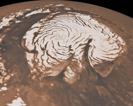 La Chasma Boreale è quell'enorme spaccatura a forma di virgola nella calotta polare
