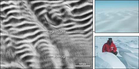 Le megadune di ghiaccio dell'Antartide