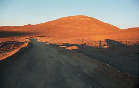 Il Cerro Armazones nel deserto di Atacama in Cile