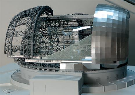 Come appariranno la cupola e il telescopio E-ELT quando saranno completati