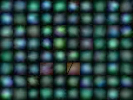 Una bella serie di galassie del tipo 'pisello verde'
