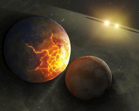 Un attimo prima dello scontro tra due pianeti