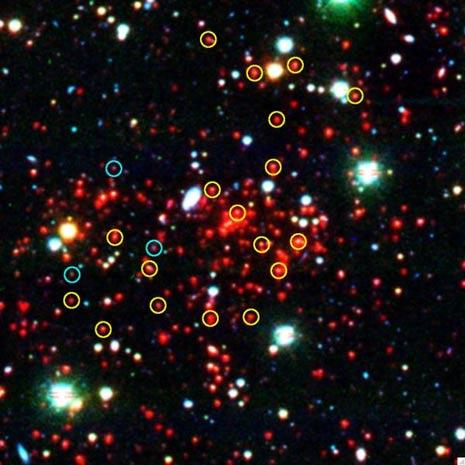 Immagine infrarossa dell'ammasso