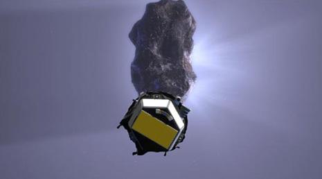 ecco una libera interpretazione dell'incontro ravvicinato tra la sonda e la cometa