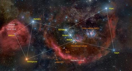 La costellazione di Orione