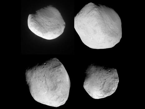 Ecco un fotomosaico di 4 foto della cometa da parte della sonda Stardust