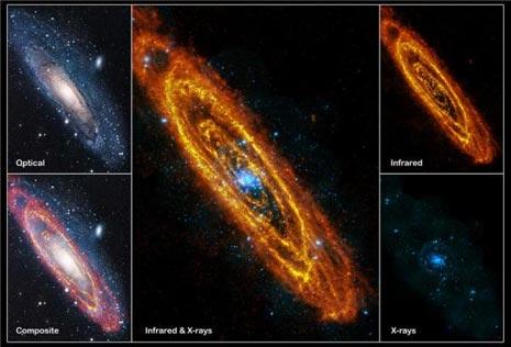 La Galassia di Andromeda vista a diverse lunghezze d'onda