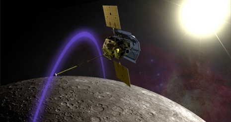 La Messenger in orbita
