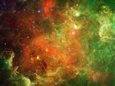 Immagine ottenuta dal telescopio Spitzer nell'infrarosso
