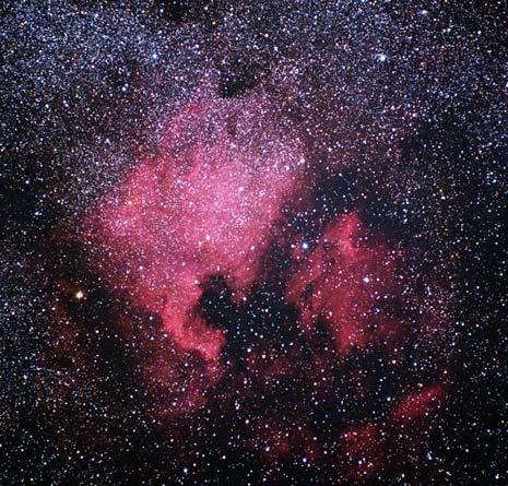 La classica visione della nebulosa detta Nord America