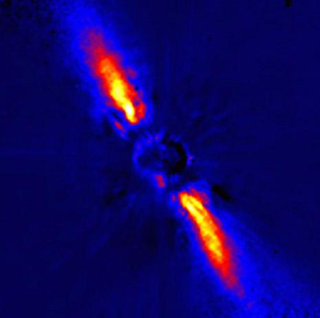 Una bellissima immagine del disco di Beta Pictoris