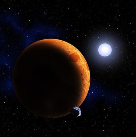 Un ipotetico pianeta assiste meravigliato e felice alla nascita di una nuova stella di elio