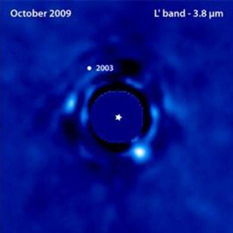 Il pianeta (ormai può dirsi tale) ricompare dalla parte opposta della stella