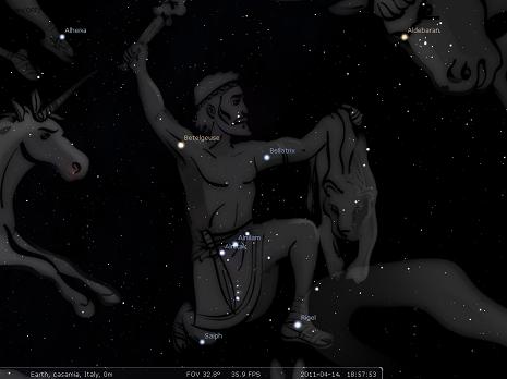Orione secondo Stellarium - big