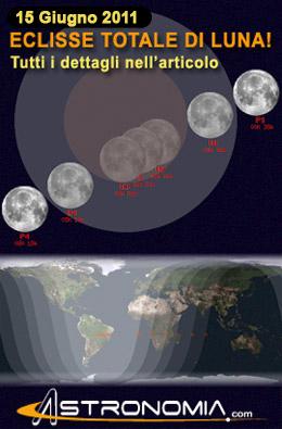 15 giugno 2011: Eclissi Totale di Luna!
