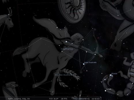 il Sagittario secondo stellarium