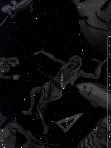 Andromeda in Stellarium