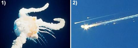 Disastro del Challenger (1) del 28-01-1986 e del Columbia (2) del 01-02-2003