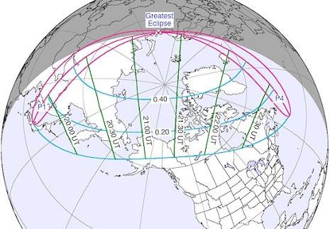 L'eclissi secondo la NASA