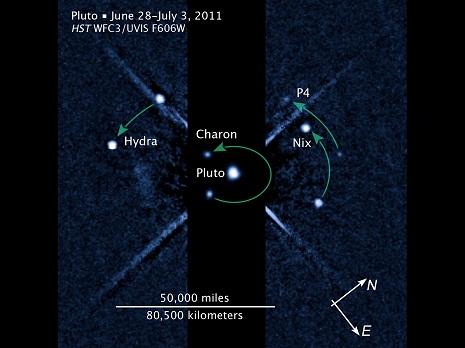 i quattro satelliti di plutone