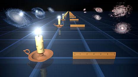 Il diagramma illustra i due metodi usati per misurare la velocità di espansione dell'Universo
